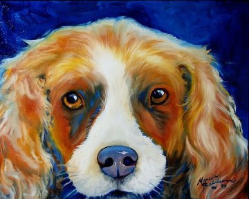 Charlie Spaniel Pop Art 2009 Limited Edition Print - Marcia Baldwin