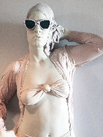 Woman With Glasses Mixed Media Sculpture Edition AP 1984 39 in Sculpture by Marc Sijan - 1