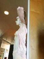 Woman With Glasses Mixed Media Sculpture Edition AP 1984 39 in Sculpture by Marc Sijan - 4