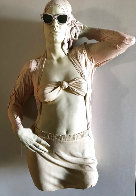 Woman With Glasses Mixed Media Sculpture Edition AP 1984 39 in Sculpture by Marc Sijan - 0