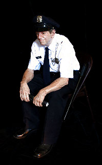 Seated Security Guard Resin Sculpture 45 in Life Size Sculpture - Marc Sijan