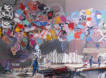 Toxic Targets 2007 50x38 Original Painting - Marcus Antonius Jansen