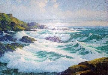 East Molokai 1966 42x54 Original Painting - Charles S. Marek
