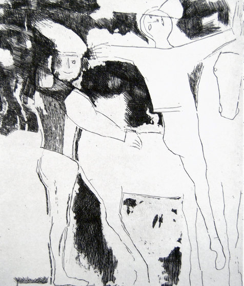 Theatre Des Masques - Theater of the Masks 1956 Limited Edition Print by Marino Marini