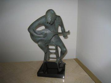 Soft Guitar Bronze Sculpture 1975 Sculpture - Harry Marinsky