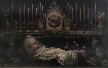 Awakening the Moon Poster 2014 HS Limited Edition Print by Mark Ryden