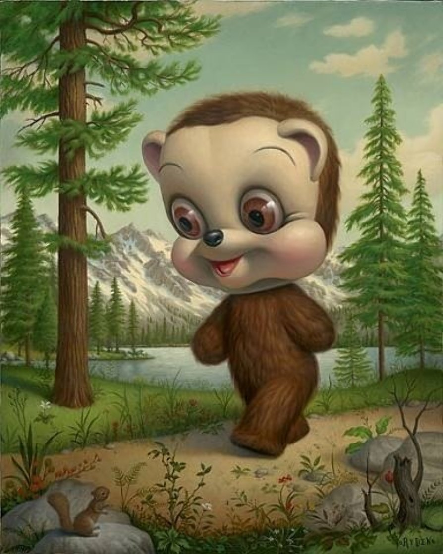 California Brown Bear 2007 Limited Edition Print by Mark Ryden