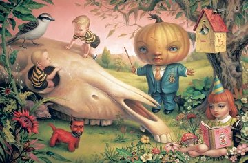 Pumpkin President Poster 2008 Limited Edition Print - Mark Ryden