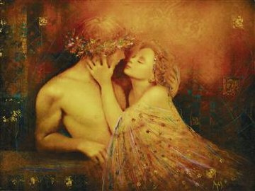 Rhapsody Love Embellished 2005 Limited Edition Print by Csaba Markus