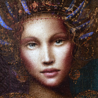 Muse of Spring 2010 18x20 Original Painting - Csaba Markus