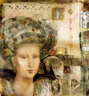 Ilona 1993 41x41 Huge Original Painting - Csaba Markus