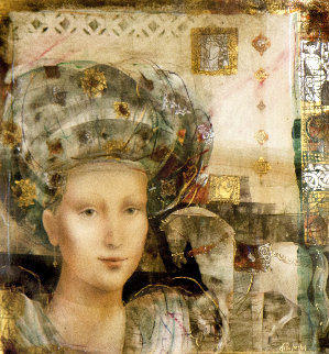 Ilona 1993 41x41 Super Huge Original Painting - Csaba Markus
