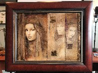 Prophesy of Passion  Triptych  2007 26x32 Original Painting by Csaba Markus - 1