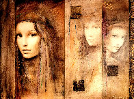 Prophesy of Passion  Triptych  2007 26x32 Original Painting by Csaba Markus - 0