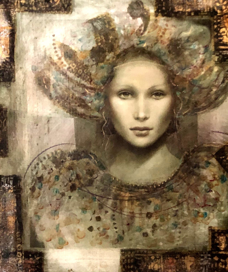 Thebian Thoughts 43x39 Super Huge Original Painting by Csaba Markus