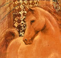 Golden Steed Limited Edition Print by Csaba Markus - 2