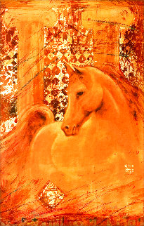 Golden Steed Limited Edition Print - Csaba Markus