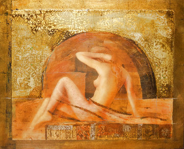 Annabella 1999 35x38 Super Huge Original Painting - Csaba Markus