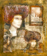 Untitled Painting 57x53 Huge Limited Edition Print by Csaba Markus - 0