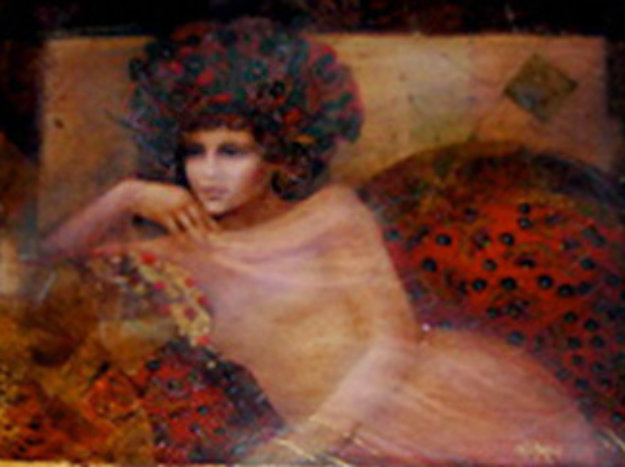 Distant Thoughts 1997 22x28 Original Painting by Csaba Markus