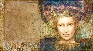 Zoe 1998 24x35 Original Painting - Csaba Markus