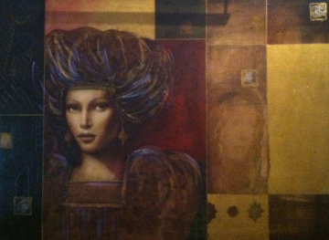 Hectoria 2006 27x37 Original Painting - Csaba Markus