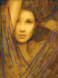 La Femme Suite of 4 Embellished Serigraphs on Wood Panel 2006 Limited Edition Print by Csaba Markus