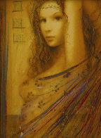 La Femme Suite of 4 Embellished Serigraphs on Wood Panel 2006 Limited Edition Print by Csaba Markus - 3