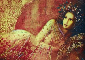 Waiting 2005 Embellished  Limited Edition Print by Csaba Markus