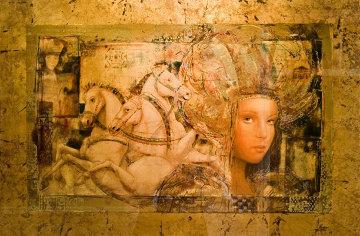 Horses of Carthage AP 1998 Embellished Limited Edition Print - Csaba Markus