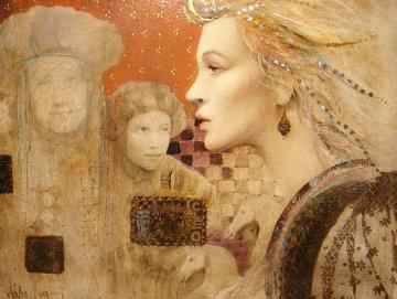 Vision of Amellia 2008 23x27 Original Painting - Csaba Markus