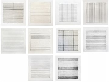 Paintings And Drawings: Stedelijk Museum Portfolio of 10   Limited Edition Print - Agnes Bernice Martin