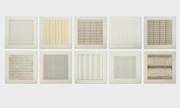 Paintings And Drawings Portfolio 1990 (Set of 10)  Limited Edition Print by Agnes Bernice Martin