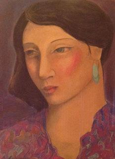 Annabella 1985 58x47 Super Huge Original Painting - Miguel Martinez
