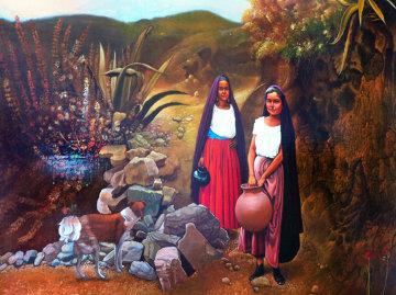 El Paisaje 31x43 Super Huge Original Painting - Esperanza Martinez