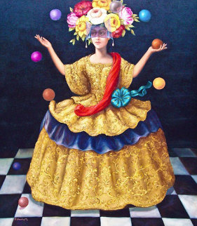 Jester 2003 49x39 Original Painting by Hector Martinez