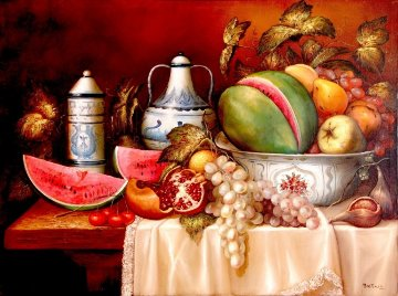 Still Life 2002 30x40 Original Painting - Hector Martinez