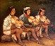 Tarahumara Musicians 2002 30x36 Original Painting by Hector Martinez - 0