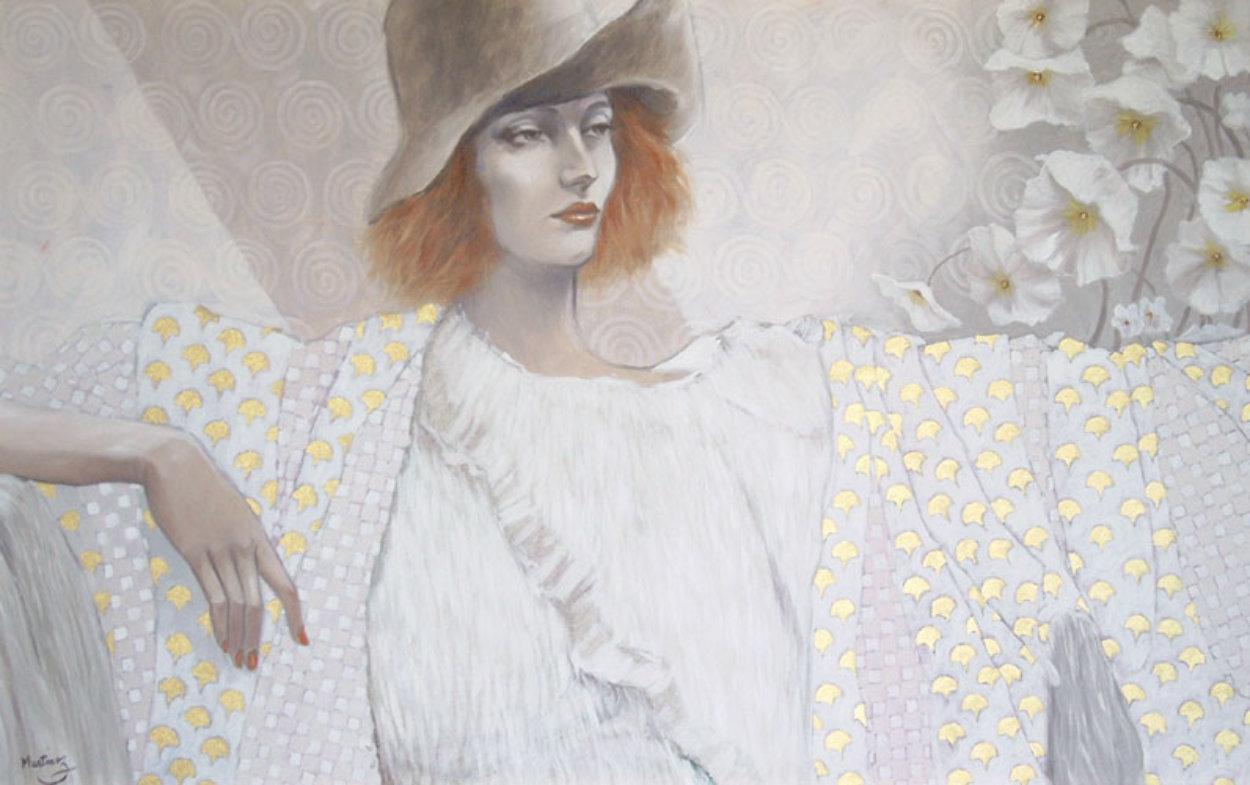 Blanche 30x48 Super Huge Original Painting by Jean-Paul Loppo Martinez