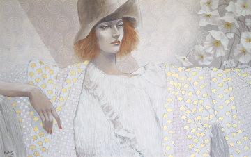 Blanche 30x48 Huge Original Painting - Jean-Paul Loppo Martinez