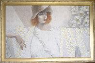 Blanche 30x48 Super Huge Original Painting by Jean-Paul Loppo Martinez - 1