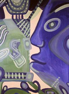 When Money Gets Ugly 1999 48x36 Original Painting - Soraida Martinez