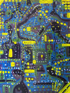 Vieques: Hello USA, Are You There? 2001 48x36 Original Painting by Soraida Martinez