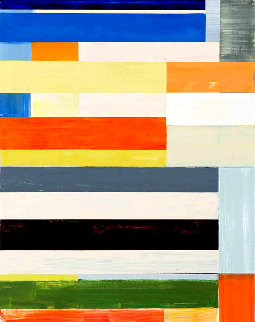 Abstract Composition 2013 37x29 Original Painting - Lloyd Martin