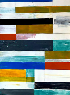 Abstract Composition 9 2013 37x29 Original Painting by Lloyd Martin