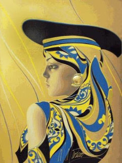 A La Mode, Golden Lady PP Limited Edition Print - Martiros Martin Manoukian