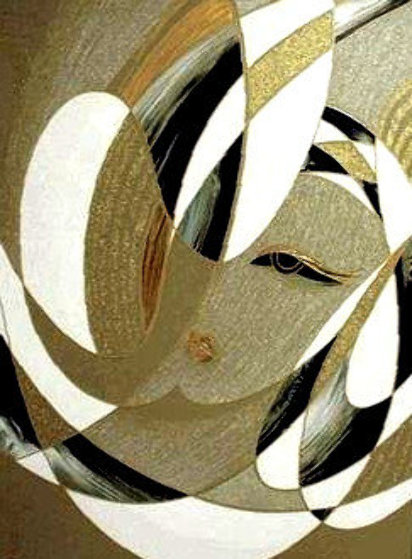 Dance of Flakes PP Embellished Limited Edition Print by Martiros Martin Manoukian