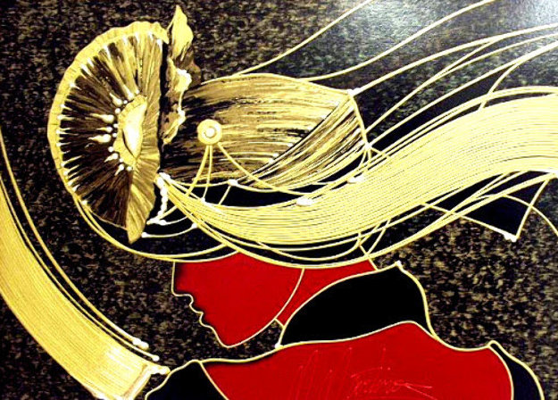 Golden Grace PP Embellished Limited Edition Print by Martiros Martin Manoukian