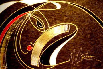 Golden Sorrow PP Embellished Limited Edition Print - Martiros Martin Manoukian