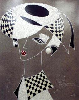 Wistful Elegance/Silver Lady PP Embellished Limited Edition Print - Martin Martiros